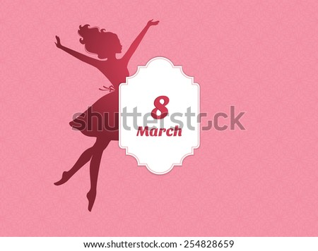 Vector illustration of Happy Women Day background - stock vector