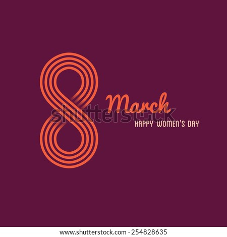 Vector illustration of Happy Womens day template - stock vector