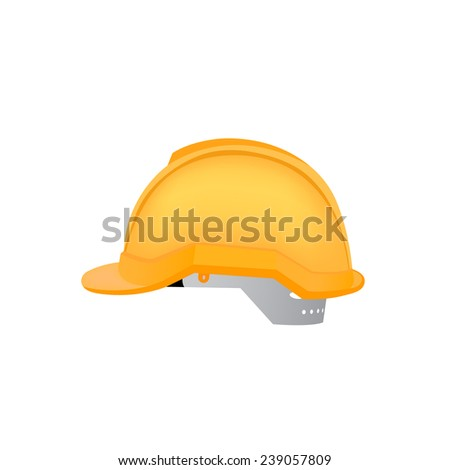 vector illustration of hardhat against white background - stock vector