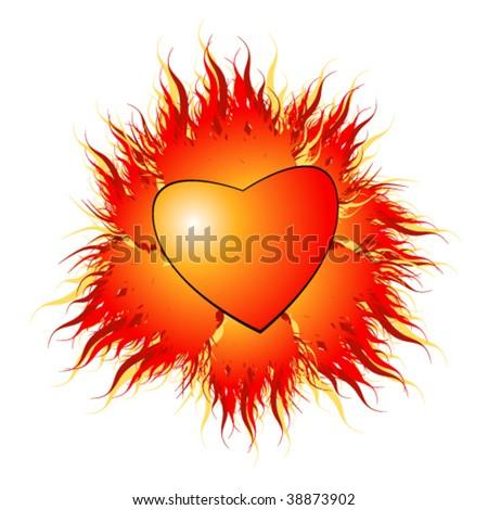 vector illustration of heart - stock vector