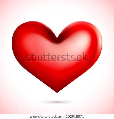 vector illustration of heart against abstract background - stock vector