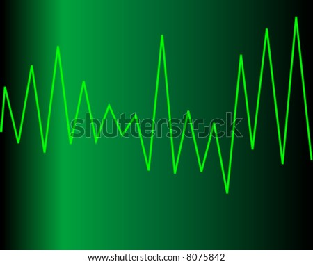 vector illustration of heart graph