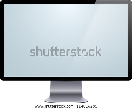 Vector illustration of high-detailed modern display. Eps10. - stock vector