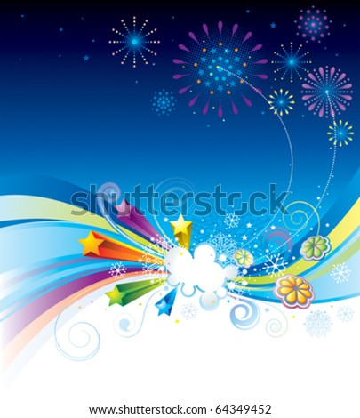 Vector illustration of holiday eve celebration background. - stock vector