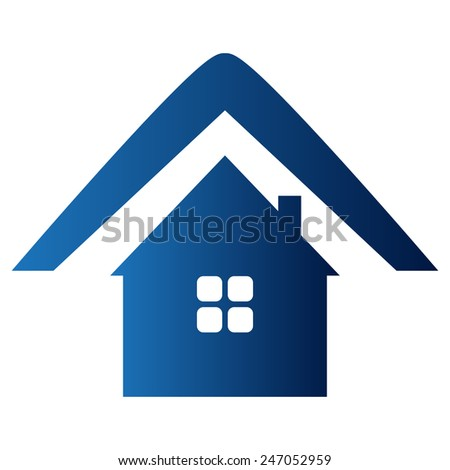 Vector illustration of home icon - stock vector