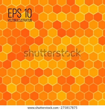 Vector illustration of honeycomb background for your design - stock vector