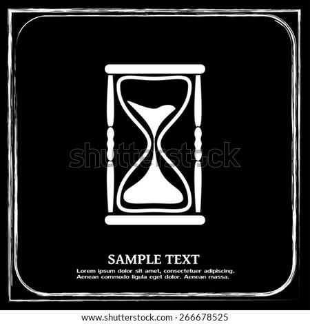 Vector illustration of hourglass - stock vector