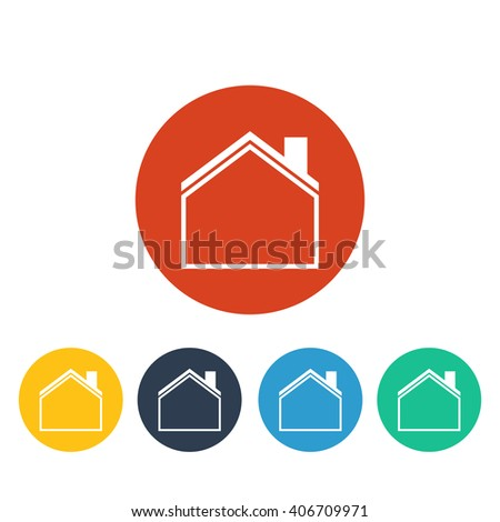 Vector illustration of house icon, house icon button, vector house icon, house icon image, house icon badge, house icon sign, house icon  logo, house icon design, flat house icon, white house icon - stock vector
