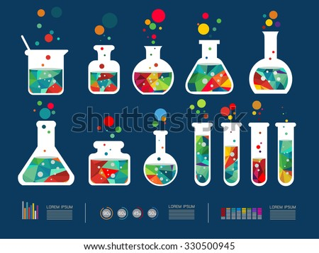 Vector illustration of icon beaker - stock vector