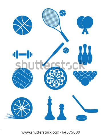 Vector illustration of icons of sport - stock vector
