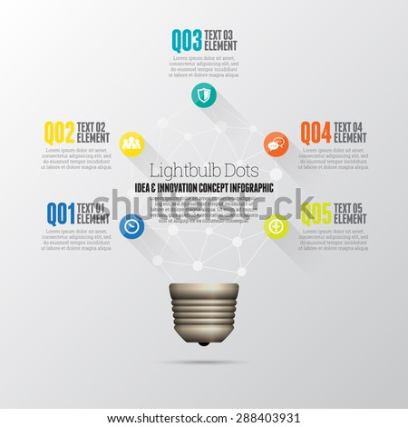 Vector illustration of idea and innovation concept infographic design element. - stock vector