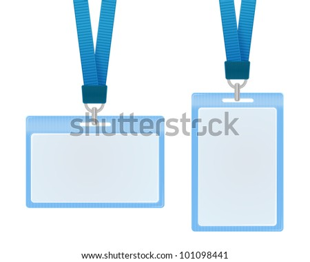 Vector illustration of identification cards - stock vector