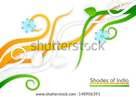 vector illustration of Indian tricolor flower - stock vector