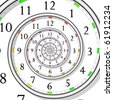 vector illustration of infinite time clock - easy color change - stock photo