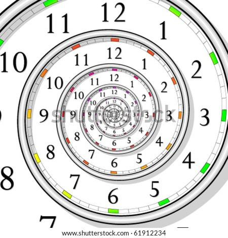 vector illustration of infinite time clock - easy color change - stock vector