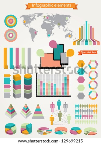 Vector illustration of infographic elements. - stock vector