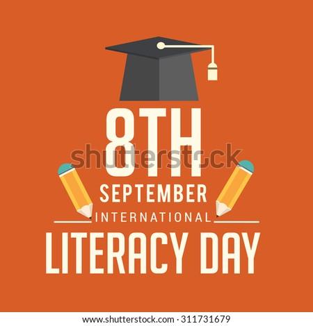 Vector illustration of International Literacy Day. - stock vector