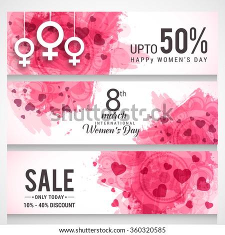 Vector Illustration of International women's day header or banner.