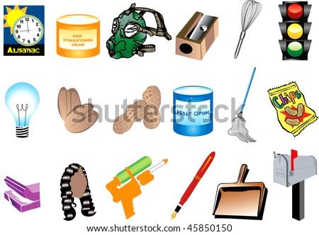 Vector Illustration of Inventions for black history month. Also available with names. - stock vector