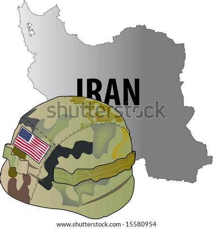 vector illustration of Iran war - stock vector