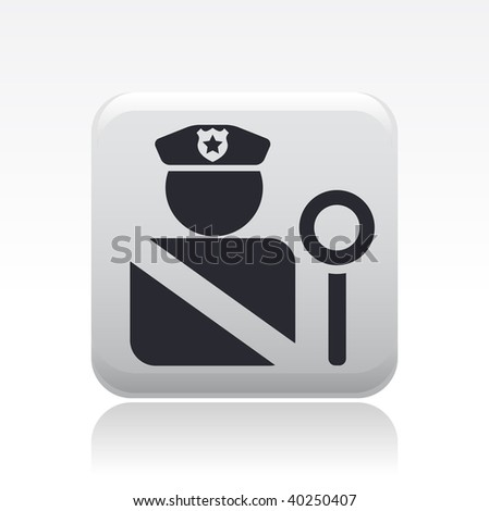 Vector illustration of isolated modern police icon. - stock vector