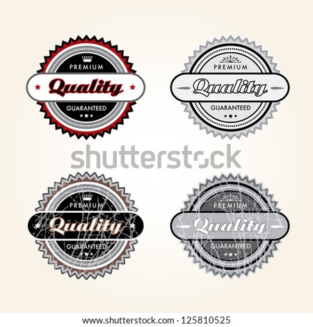 Vector illustration of labels.