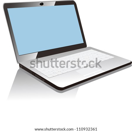 Vector Illustration of laptop Isolated on White Background. esp 8 . - stock vector