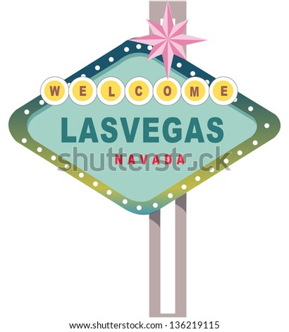 Vector illustration of Las Vegas sign