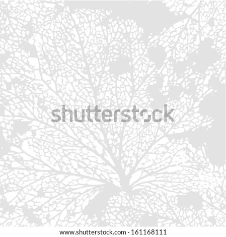 Vector illustration of leaf veins, leaf skeleton. Abstract seamless background. Autumn. - stock vector