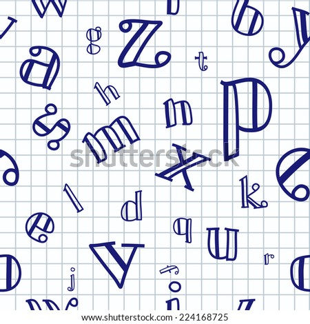 Vector illustration of letter background