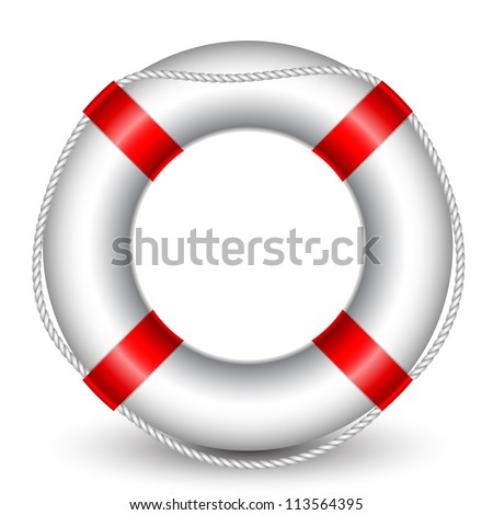 Vector illustration of Life Buoy - stock vector