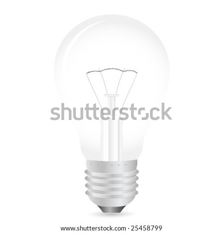 Vector illustration of light bulb.
