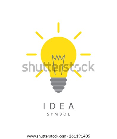 Vector illustration of  light bulb and idea concept symbol. - stock vector