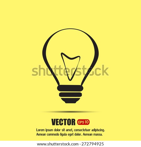Vector illustration of light bulbs