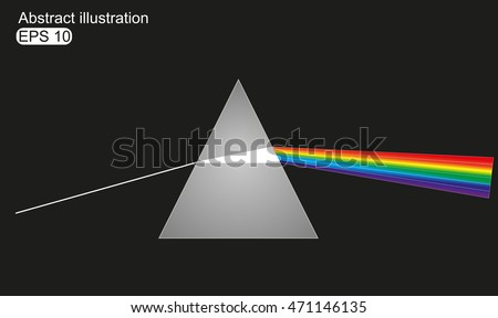 Vector illustration of light dispersion