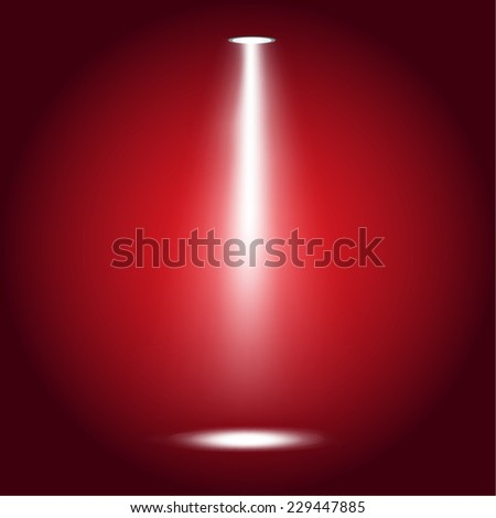 Vector illustration of  lights on red background  - stock vector