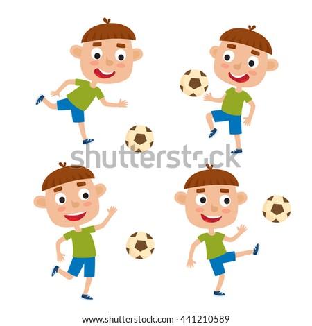 Children Playing Soccer Outdoors Stock Vector 96734047 - Shutterstock