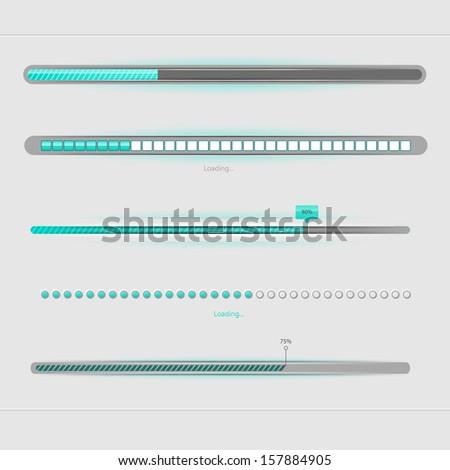 Vector illustration of Loading... - stock vector