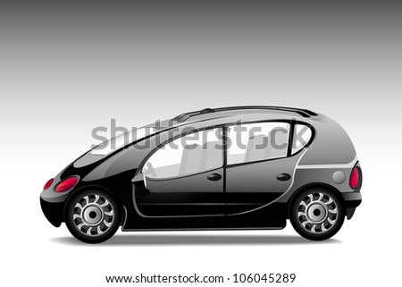vector illustration of luxury car against abstract background - stock vector