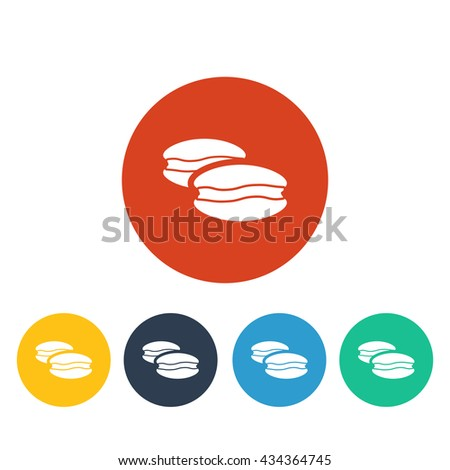 Vector illustration of macaroons icon