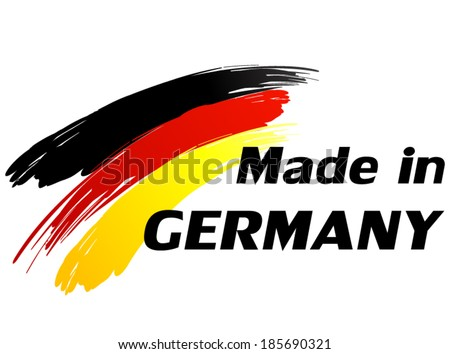 Vector illustration of made in Germany label - stock vector