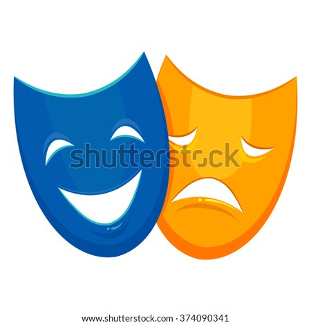 Vector Illustration of Mask - stock vector