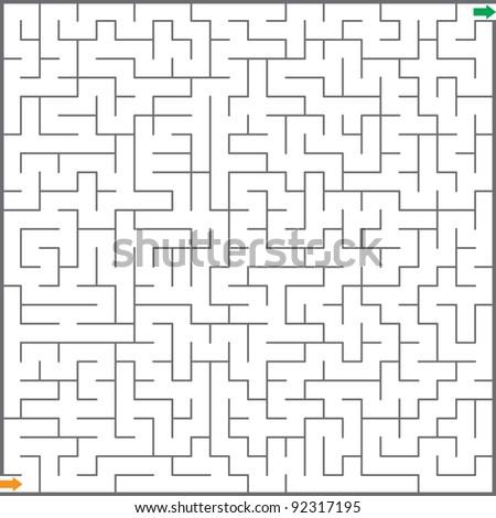 Vector illustration of maze - stock vector