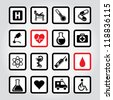 Vector illustration of medic icons. - stock vector
