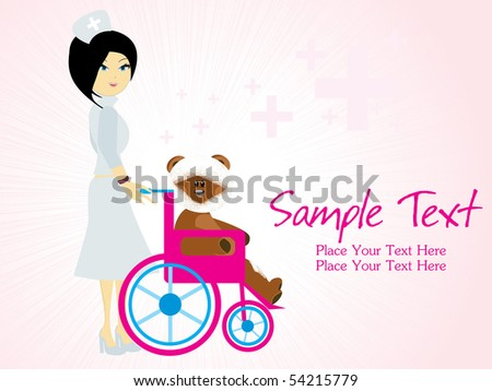 vector illustration of medical background with sample text - stock vector