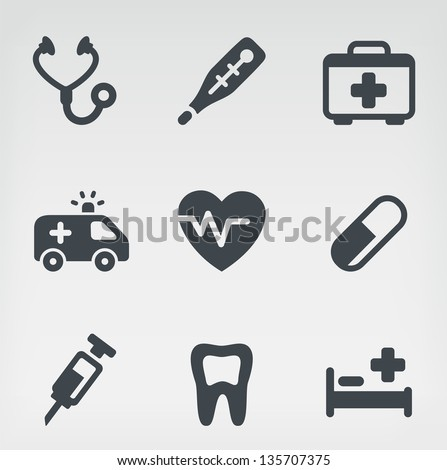Vector illustration of medicine on light background. - stock vector