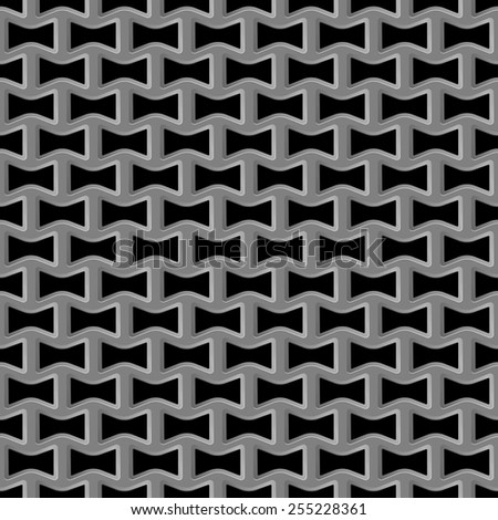 Vector illustration of Metal grid seamless pattern - stock vector