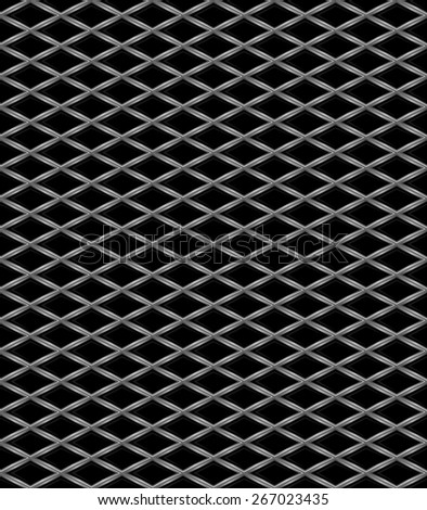 Vector illustration of Metal grid seamless pattern - stock vector