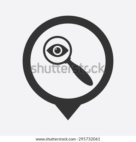 vector illustration of modern b lack icon detective