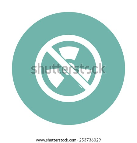 vector illustration of modern b lack icon radiation - stock vector